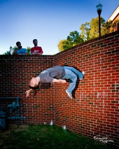 Sweet wall flip action!
